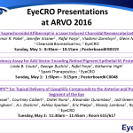 EyeCRO data to be presented at ARVO 2016 in Seattle